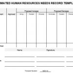 NE0110 Estimated Human Resources Needs Record Template - English