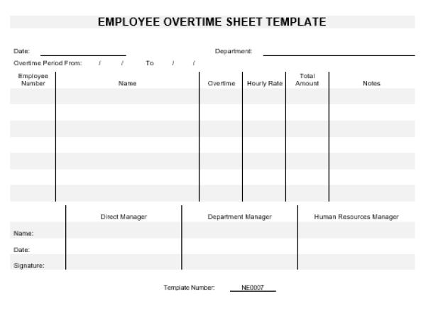 work hours sheet template