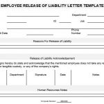 NE0086 Employee Release of Liability Letter Template - English