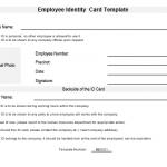 NE0101 Employee ID Card Template