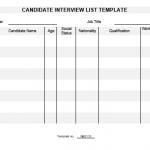NE0115 Candidate Interview List Template
