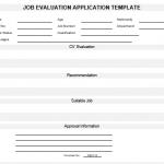 NE0116 Job Evaluation Application Template