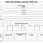 NE0139 Employee General Record Template - English