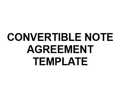 Sale NE0185 Convertible Note Agreement Template U2013 English ...