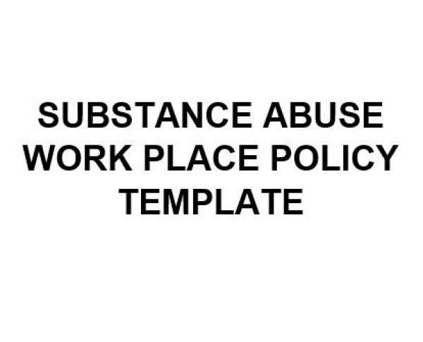 ne0191 substance abuse workplace policy template english1