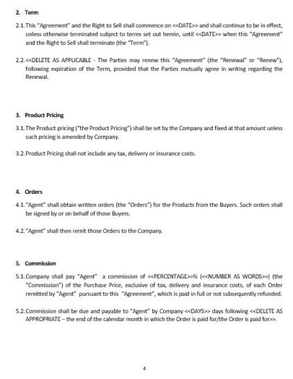 NE0178 Sales Commission Agreement Template English Namozaj – Commission Sales Agreement