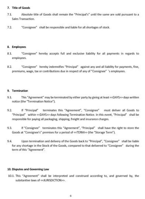 Ne0181 consignment agreement template english namozaj ne0181 consignment agreement template english platinumwayz