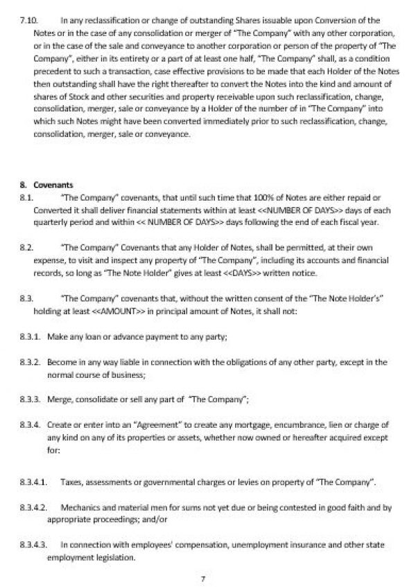 NE0185 Convertible Note Agreement Template U2013 English