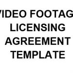 NE0145 Video Footage Licensing Agreement Template - English