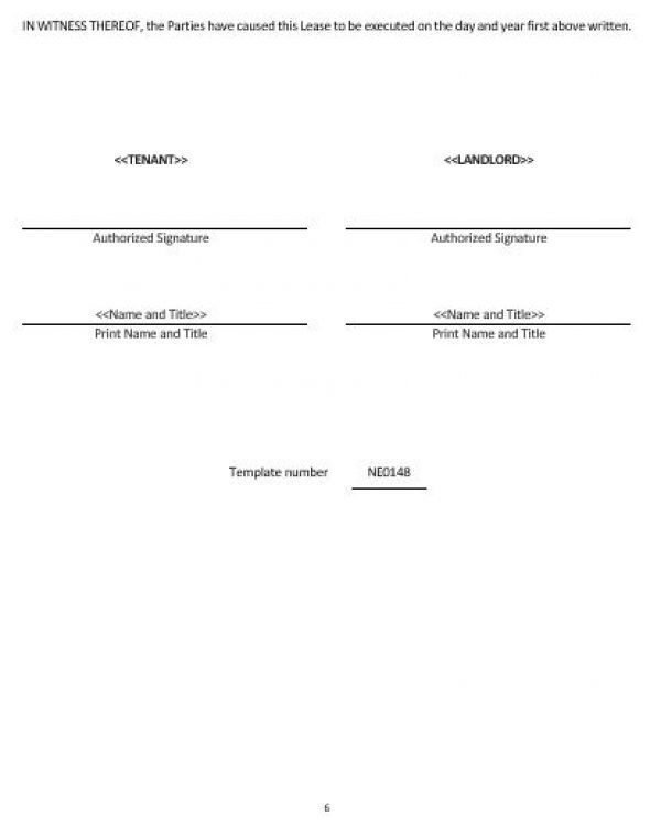 Ne0148 Month To Month Rental Agreement Template English