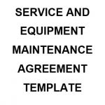 NE0195 SERVICE & EQUIPMENT MAINTENANCE AGREEMENT TEMPLATE - ENGLISH