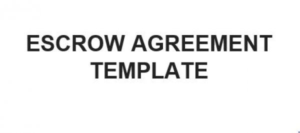 Ne0196 Escrow Agreement Template – English – Namozaj
