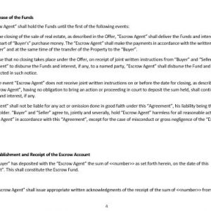 NE0196 Escrow Agreement Template U2013 English