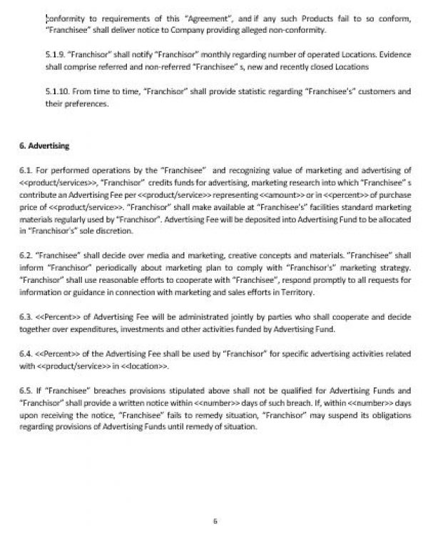 Ne0197 Franchise Agreement Template – English – Namozaj