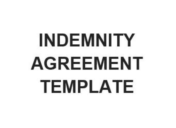 Ne0199 Indemnity Agreement Template English Namozaj