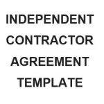 NE0200 INDEPENDENT CONTRACTOR AGREEMENT TEMPLATE - ENGLISH