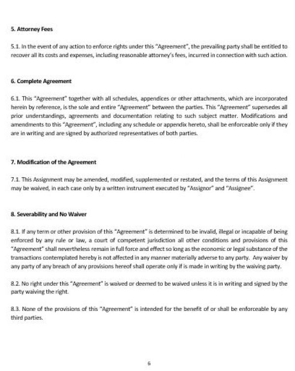 NE0201 Intellectual Property Assignment Agreement Template – Assignment Agreement Template
