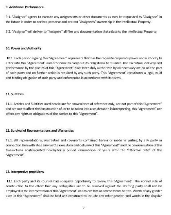 ip assignment agreement