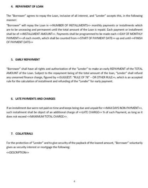 Repayment Contract Template Vosvetenet – Loan Repayment Agreement Form