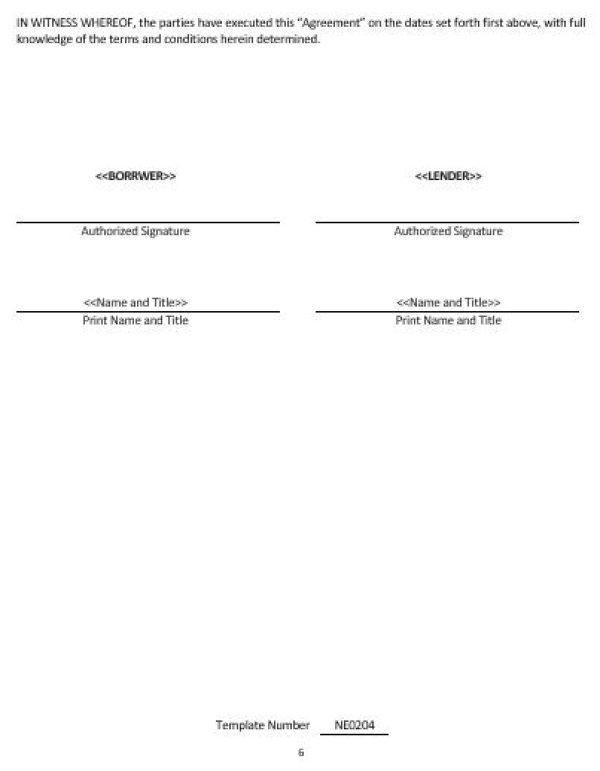repayment agreement