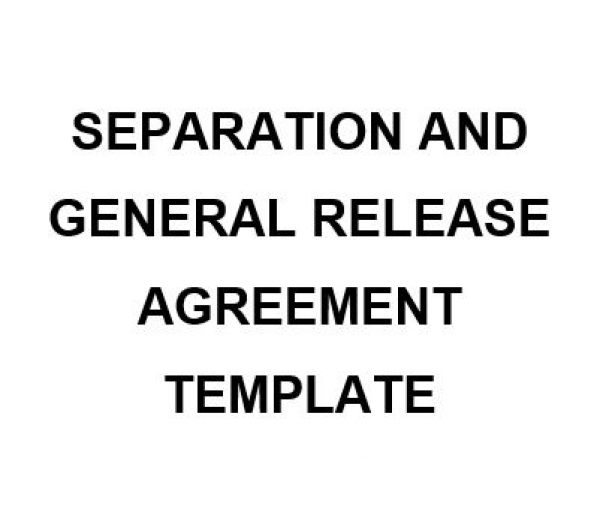 NE0222 Separation And General Release Agreement Template U2013 English  General Release Template