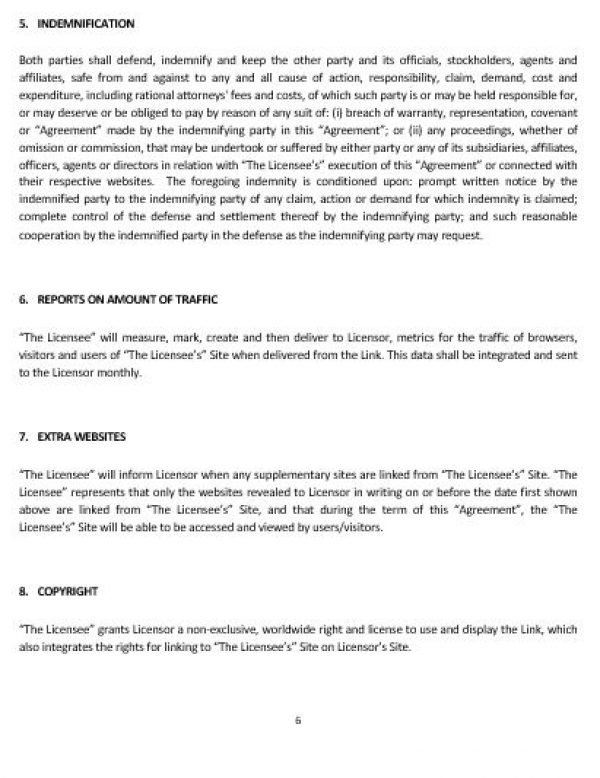 NE0230 WEBSITE LINKING AGREEMENT TEMPLATE ENGLISH Namozaj – Linking Agreement Template