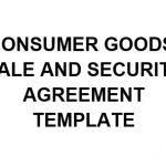 NE0240 CONSUMER GOODS' SALE AND SECURITY AGREEMENT TEMPLATE - ENGLISH