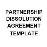 NE0242 PARTNERSHIP TERMINATION AGREEMENT TEMPLATE - ENGLISH
