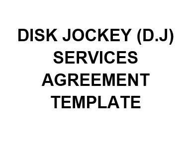 ne0269 disk jockey dj services agreement template english namozaj. Black Bedroom Furniture Sets. Home Design Ideas