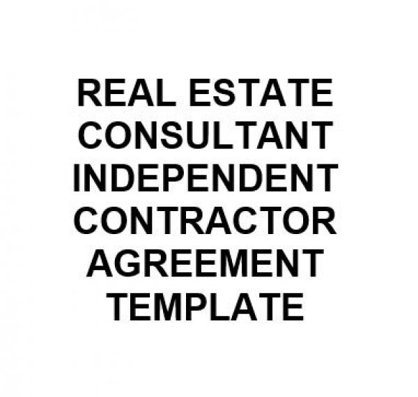Ne0274 Real Estate Consultant Independent Contractor Agreement