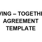 NE0271 LIVING – TOGETHER AGREEMENT TEMPLATE - ENGLISH